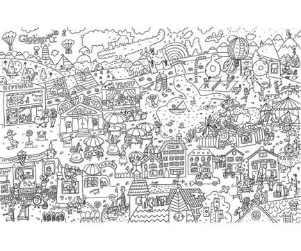 """Раскраски - Раскраска Globen Огромная """"Мой город"""" 120х80см ..."""